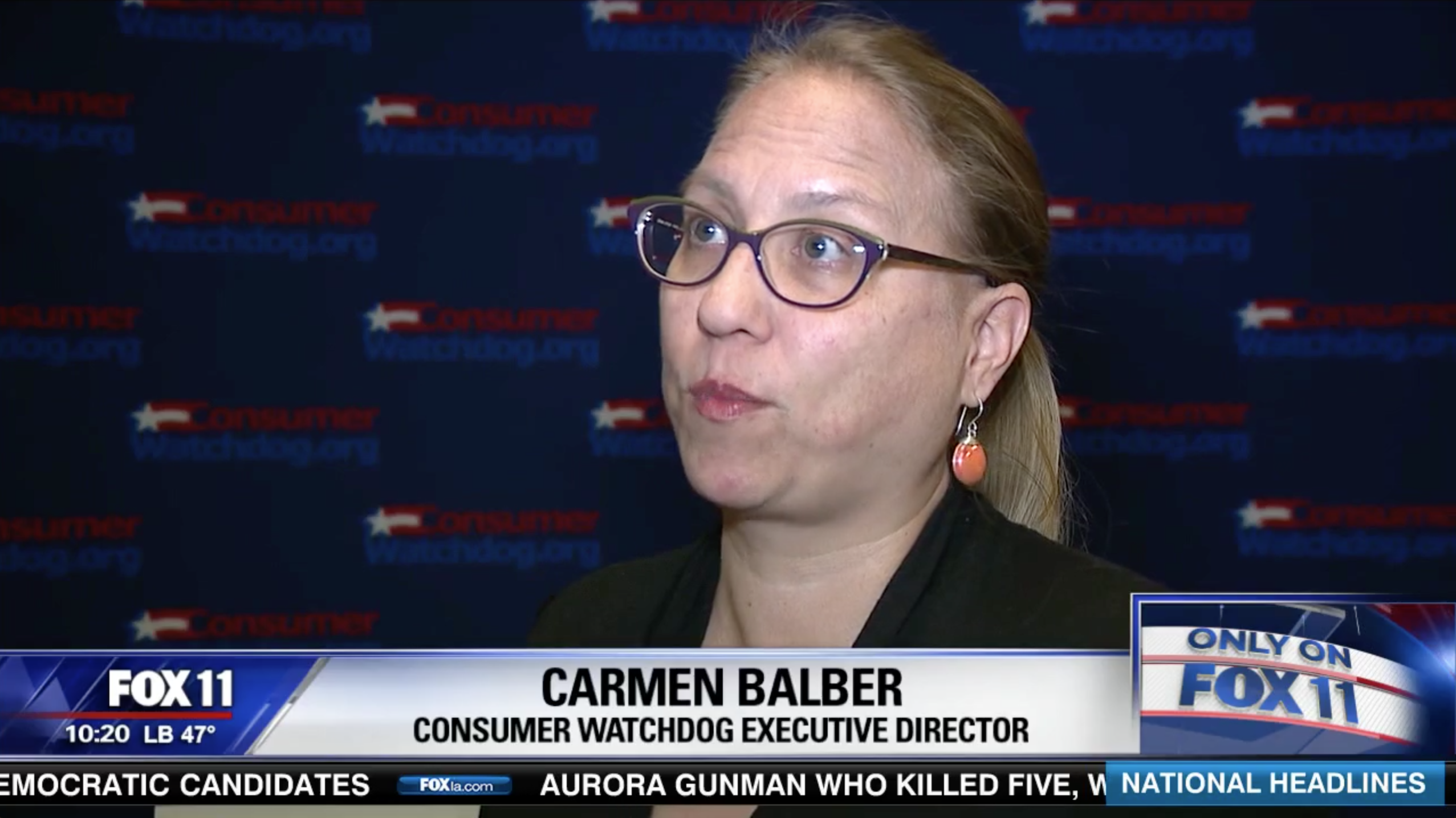 Carmen Balber, Executive Director of Consumer Watchdog