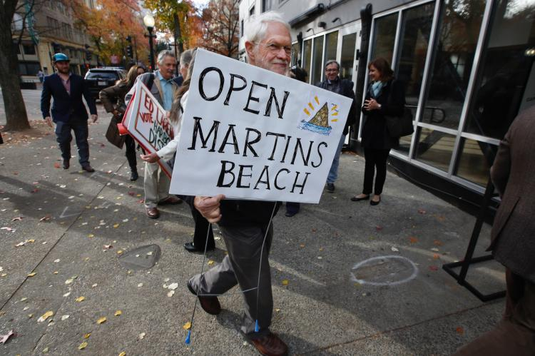 Protestors trying to save Martin's beach