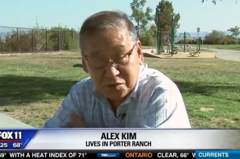 Alex Kim, resident of Porter Ranch, speaks out about the health consequences the Aliso canyon gas leak has had on his family