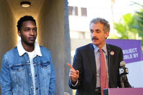 Antwon Jones and Mike Feuer